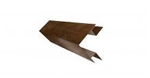 Доборные элементы (Блок-хаус/ЭкоБрус) Grand Line в Липецке Планка угла внешнего сложного (ЭкоБрус)