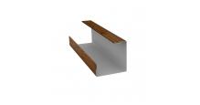 Доборные элементы (Блок-хаус/ЭкоБрус) Grand Line в Липецке Планка угла внутреннего составная нижняя